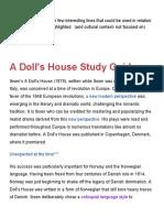 A DollsHouse Afewlitgennotes