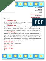 Informal Letter to Susan