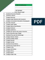 Lista de Colegios