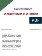Sentido de La Arquitectura. Historia