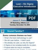 Lean Sigma Introduction