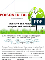 poisoned talk quiz