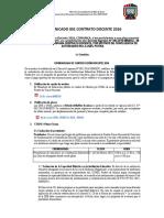 Cronograma Contrato Docente 2016