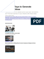 10 Great Ways to Generate Business Ideas