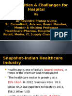 Workshop on Healthcare Sector-Opportunities and Challenges in Hospital-Final PPT