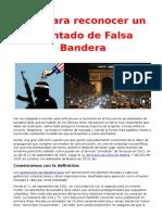 Guía Para Reconocer Un Atentado de Falsa Bandera