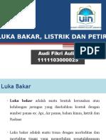 Dt Luka Bakar, Listrik Dan Petir - Audi