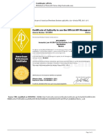 Walworth Valves - Certificado API-6a - 2014-10-20