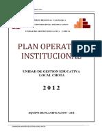 Plan Operativo Institucional2012