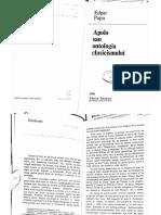 Apolo Sau Ontologia Clasicismului - Edgar Papu