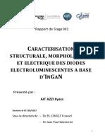 Caractérisation Morphologique Structurale Élèctrique d'Une LED à Base InGaN