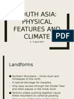 South Asia Physical Features and Climate