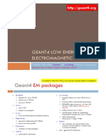 Ivantchenko  - GEANT4 LOW ENERGY Geant4 EM Packages