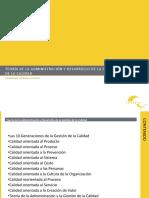 Teoría de La Administracion y Desarrollo de La Gestión de La Calidad