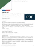ORD. N°2553 - Normativa laboral. Dirección del Trabajo