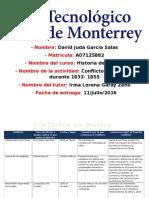 MIII – U2 - Actividad 2. Tabla Informativa  y conclusión reflexiva sobre conflictos en México durante 1833 -1855.