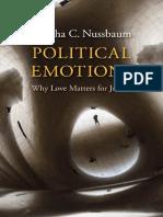 Martha C. Nussbaum-Political Emotions 2013