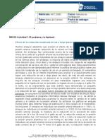 MIII-U2- Actividad 1. El problema y la hipótesis