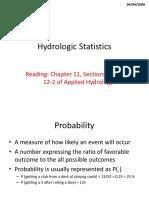 Statistics Hydrology