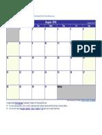 August 2016 Calendar.docx