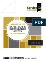 Service IQ - NZ Cafes-Bars-Restaurants Sector 2014