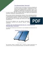 En Qué Consiste La Energía Solar Térmica