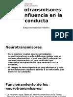 Neurotransmisores y Su Influencia en La Conducta