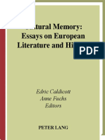 Caldicott, Fuchs, Caldicott - Cultural Memory Essays on European Lit and History.pdf