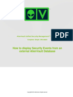 AlienVault Displaying Security Events From an External AlienVault Database