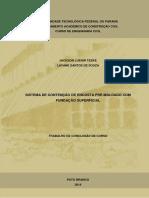 Sistema de Contenção de Encosta Pré-Moldado Com Fundação Superficial