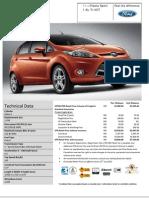 Ford Fiesta Sport 1.6L Ti-VCT Estimated Price List