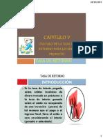 CÁLCULO DE LA TASA DE RETORNO +++++++++