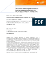 Estudo Comparativo - Aço e Concreto Protendido - Ponte Ferroviária