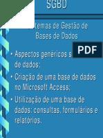 Sistemas de Gestão de Bases de Dados
