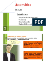 34 - Estatistica - Variancia Desvio Padrao