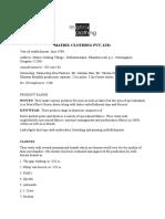 Matrix Clothing Visit Report