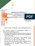 Derecho Penal II  Delitos contra la administracion publica - El Peculado