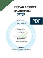 Actividad 1 - Educacion, Nutricion familiar (UAPA)