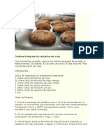 Cookies Integrais de Castanha