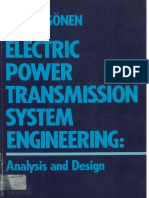 Electric Power Transmission System Engineering, Analisys and Design - Turan Gonen