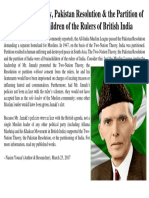 Two-Nation Theory, Pakistan Resolution & the Partition of India
