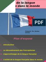 La Place de La Langue Française Dans Le Monde
