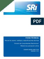 Ficha Tecnica Comprobantes Electrónicos Versión 1.14