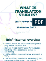 What is Translation Studies