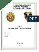 Monografia de Delitos Contra La Seguridad Pública
