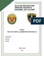 Monografia de Delitos Contra La Administración Pública
