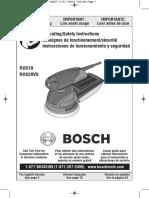 Bosch Sander Manual