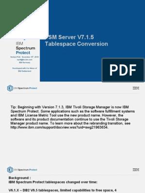 SpectrumProtectTablespaceConversionDetails-161111 | Ibm Db2