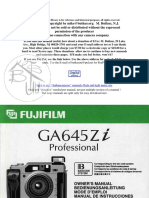 Manual fujifilm Ga645zi