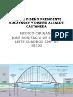 Puente Diseño Presidente Kuczynsky y Alcalde Castañeda